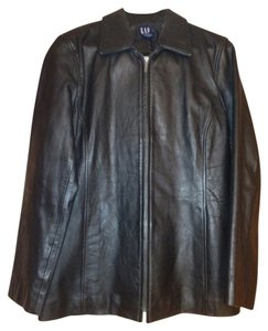 Gap Black Leather Leather Jacket
