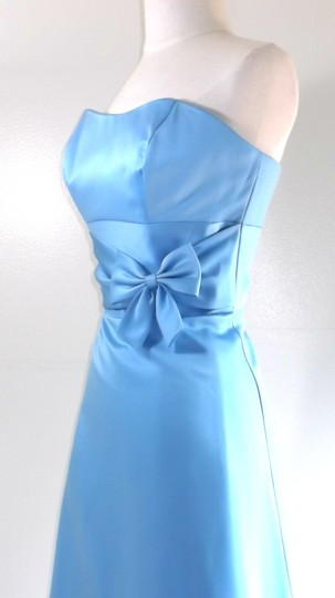 Alfred Angelo Blue Jay Satin Style 6484sn Casual Dress Size 8 (M)