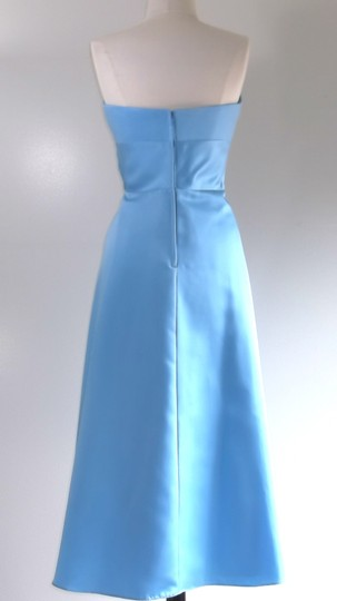 Alfred Angelo Blue Jay Satin Style 6484sn Casual Bridesmaid/Mob Dress Size 8 (M)