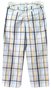 Ann Taylor LOFT Stretch Plaid Capris BLUE