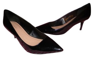 Tahari Pump Patent Classic Black Pumps