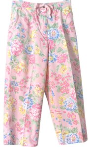Jones New York Sport Floral Flowers Capris PINK