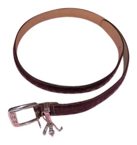 Brighton Brighton Textured Leather Golf Bag Buckle Belt