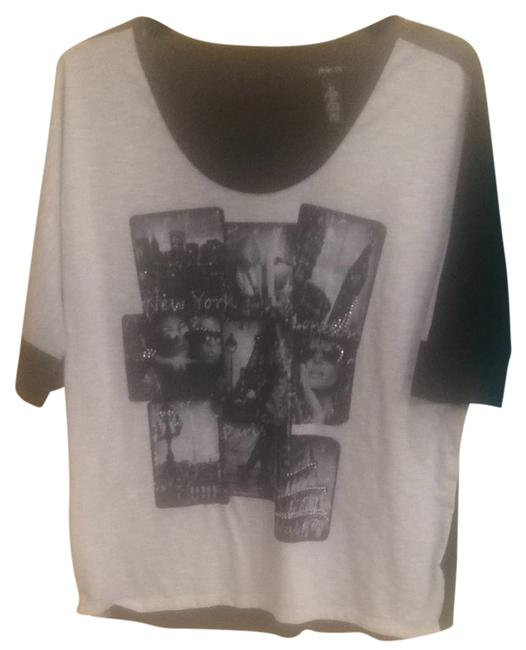 Style & Co T Shirt Black And White