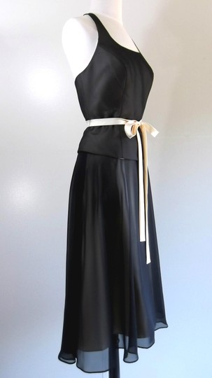 Alfred Angelo Black / Butter Chiffon / Satin Style Casual Bridesmaid/Mob Dress Size 8 (M) Image 2