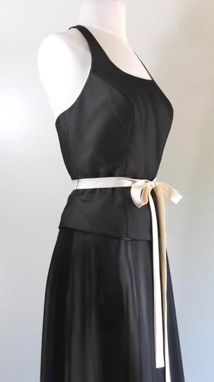 Alfred Angelo Black / Butter Chiffon / Satin Style Casual Bridesmaid/Mob Dress Size 8 (M) Image 3