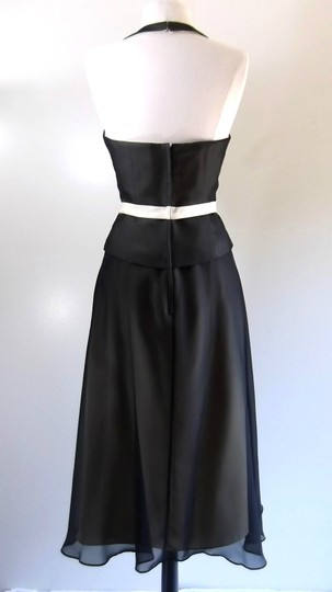 Alfred Angelo Black / Butter Chiffon / Satin Style Casual Bridesmaid/Mob Dress Size 8 (M) Image 6
