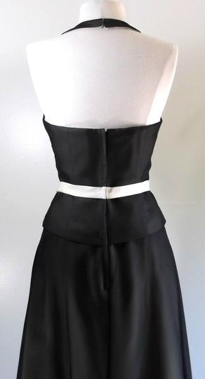 Alfred Angelo Black / Butter Chiffon / Satin Style Casual Bridesmaid/Mob Dress Size 8 (M) Image 7