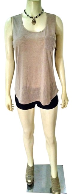 Crosby Size Large Sleeveless P1427 Top Beige