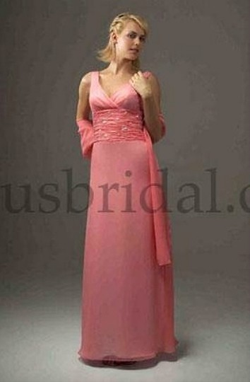 Venus Bridal Shrimp / White Bella Bridesmaid Style D529 Dress