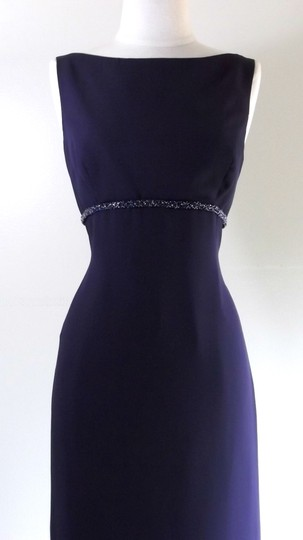 Alfred Angelo Eggplant Crepe Style 6722 Traditional Bridesmaid/Mob Dress Size 6 (S) Image 1