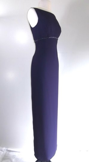 Alfred Angelo Eggplant Crepe Style 6722 Traditional Bridesmaid/Mob Dress Size 6 (S) Image 2
