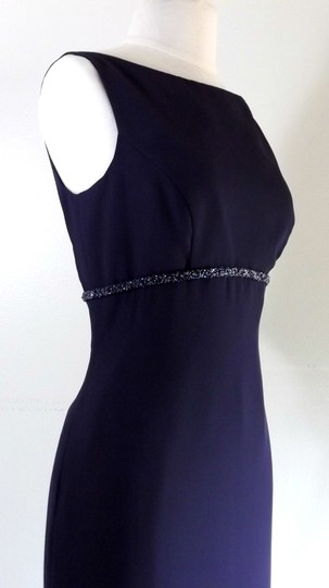 Alfred Angelo Eggplant Crepe Style 6722 Traditional Bridesmaid/Mob Dress Size 6 (S)
