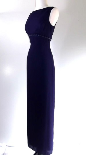 Alfred Angelo Eggplant Crepe Style 6722 Traditional Bridesmaid/Mob Dress Size 6 (S) Image 4