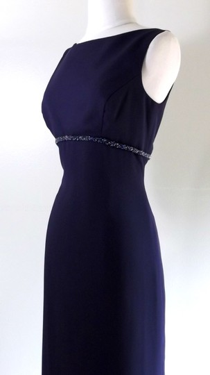 Alfred Angelo Eggplant Crepe Style 6722 Traditional Bridesmaid/Mob Dress Size 6 (S) Image 5