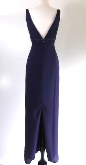 Alfred Angelo Eggplant Crepe Style 6722 Traditional Bridesmaid/Mob Dress Size 6 (S) Image 6