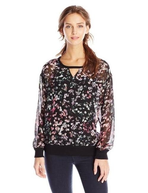 Vince Camuto Sheer Sweater Image 3