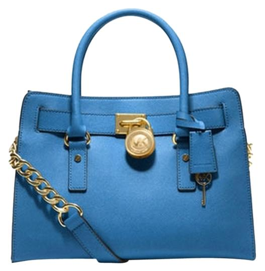 Preload https://item4.tradesy.com/images/michael-kors-heritage-blue-leather-satchel-3944098-0-0.jpg?width=440&height=440