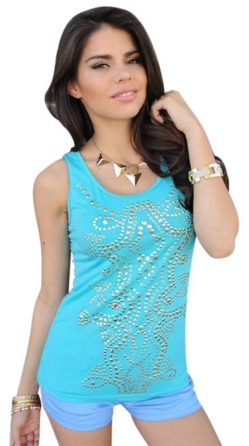 Preload https://item2.tradesy.com/images/embellished-aqua-and-gold-tank-topcami-size-4-s-3944191-0-0.jpg?width=400&height=650