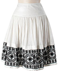 Tocca Embroidered Skirt White