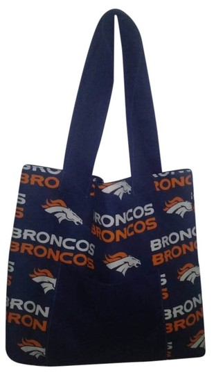 Dianna Denver Broncos Handmade Tote in blue/Orange