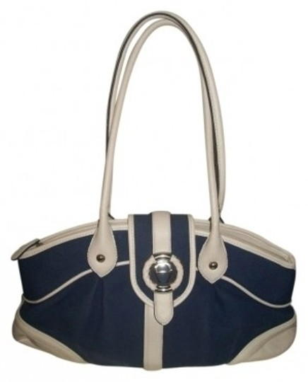 Preload https://img-static.tradesy.com/item/39446/etienne-aigner-style-blue-with-white-leather-trim-canvas-satchel-0-0-540-540.jpg