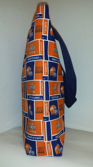 Other Purses Illinois Fighting Illini Football Tote in Blue/Orange
