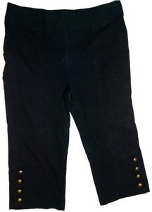 INC International Concepts Capri Size 6 Capri/Cropped Pants black