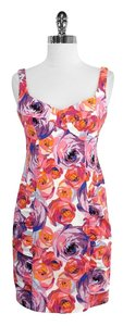 Nanette Lepore short dress Floral Cotton Blend Sleeveless on Tradesy