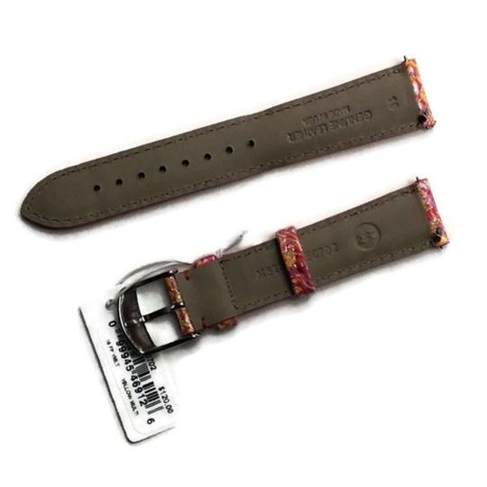 Michele Authentic MICHELE 18mm Yellow Multi Leather Watch Band MS18AA350702 Image 2