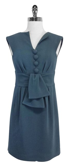 Preload https://item2.tradesy.com/images/nanette-lepore-deep-teal-textured-sheath-mini-short-casual-dress-size-2-xs-3945826-0-0.jpg?width=400&height=650