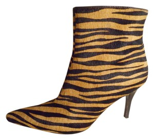 Antonio Melani Leather Zebra black & tan animal print Boots