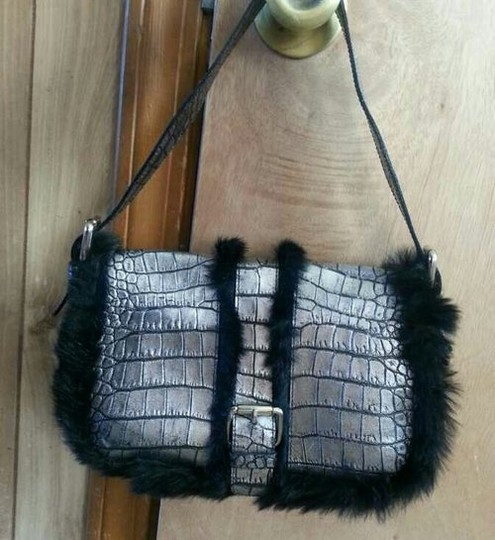 Cavalcanti Leather Mink Fur Shoulder Bag
