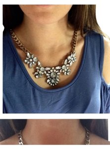 Self Esteem Crystal Floral Necklace