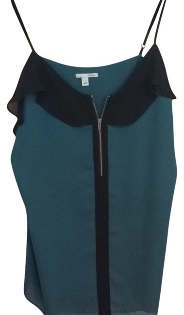 Preload https://item3.tradesy.com/images/halogen-emerald-zip-front-ruffle-tank-night-out-top-size-4-s-3946837-0-0.jpg?width=400&height=650