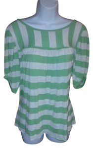Ella Moss Anthropologie T Shirt Green
