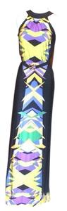 Black Multi Maxi Dress by BCBGMAXAZRIA
