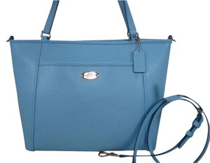 Coach Medium Cross Body Tote in Light Blue