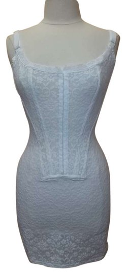 Crown-ette New Crown Victorian Lace Powernet Firm Control Corset White Size L