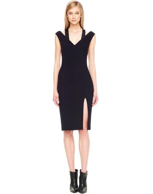 Michael Kors Sequin Formal Designer Fashion Style V-neck Evening Fitted Slit Size 2 Italy Couture New Sequins Formal Blacktie Dress