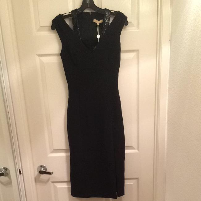 Michael Kors Sequin Formal Designer Fashion Style V-neck Evening Fitted Slit Size 2 Italy Couture New Sequins Formaldress Blacktie Dress