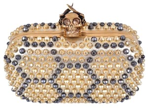 Alexander McQueen Gold Multi-Color Clutch