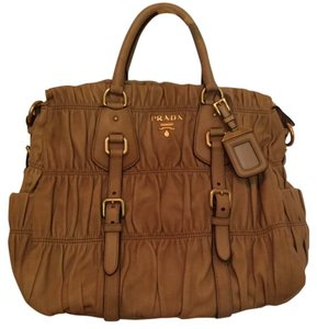Prada Gaufre Pleated Cross Body Bag