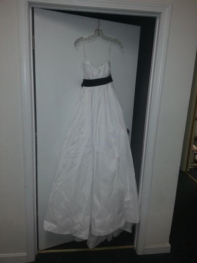 David's Bridal White Taffata T3039 Wedding Dress Size 00 (XXS)