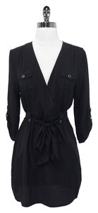 Yumi Kim short dress Black Silk Belted A-line on Tradesy