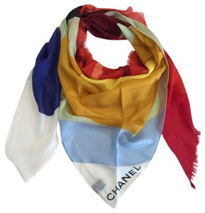 Chanel CHANEL SCARF XL - NEW - CASHMERE SUPERMARKET COLLECTION - geometric multicolor