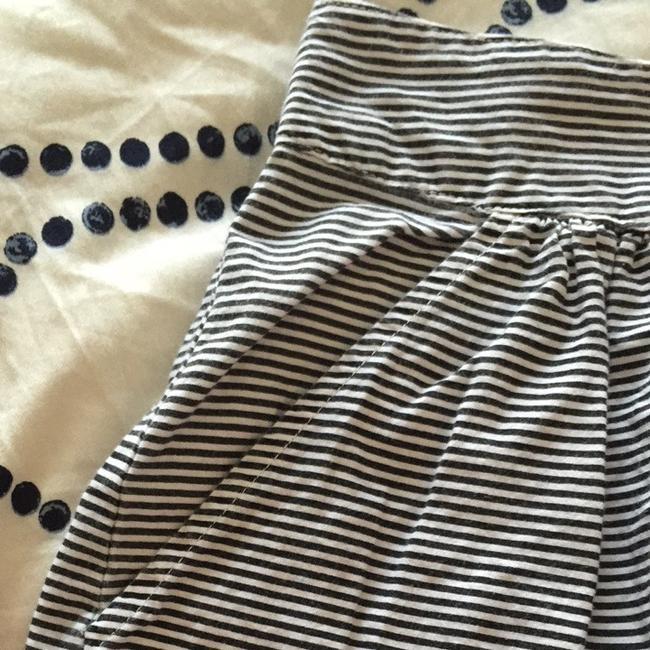 NY Collection Skirt Black & White striped