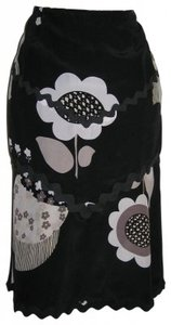 Nanette Lepore Skirt Black/Gray/White