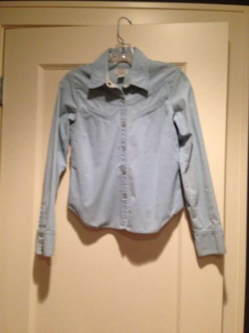 Anthropologie Button Down Shirt Powder Blue
