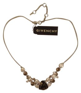 Givenchy Silver tone Crystal Glass Nevklace